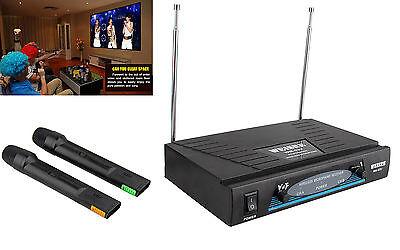 Karaoke WEISRE Profesional Inalambrico 2 Canales 2 Microfonos Wireless VHF 4245