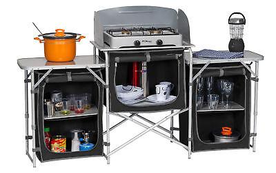 Berger Campingküche XL Küchenbox faltbar Aufbauschrank Camping Aufbewahrungsbox Camping Küche