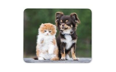 Cute Best Friends Mouse Mat Pad - Cat Kitten Dog Chihuahua Computer Gift #15656