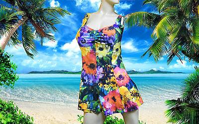 Blue By Gottex Multicolor Floral Tankini Dress 2 Pc Bathi...