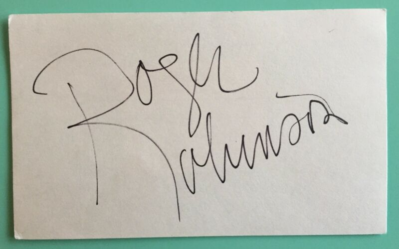 Roger Robinson Signed Index Card  Kojak How to Get Away With Murder  Tony Winner