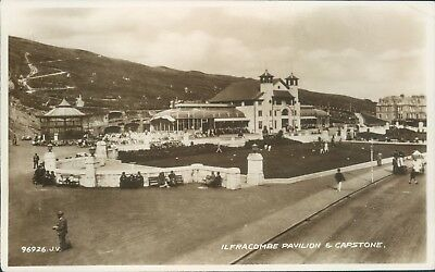 Real photo Ilfracombe pavilion and capstone 1941 Vince's library local publisher - Capstone Publishers