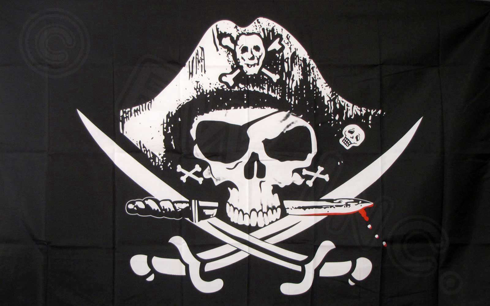 Dead Man's Chest Pirate Flag 3x5 ft Jolly Roger Sabers Sword