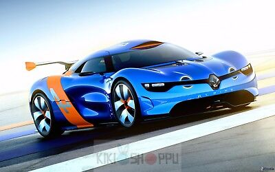 Poster A3 Coche Deportivo Renault Alpine A110-50 / Sport Car Luxury Cartel...