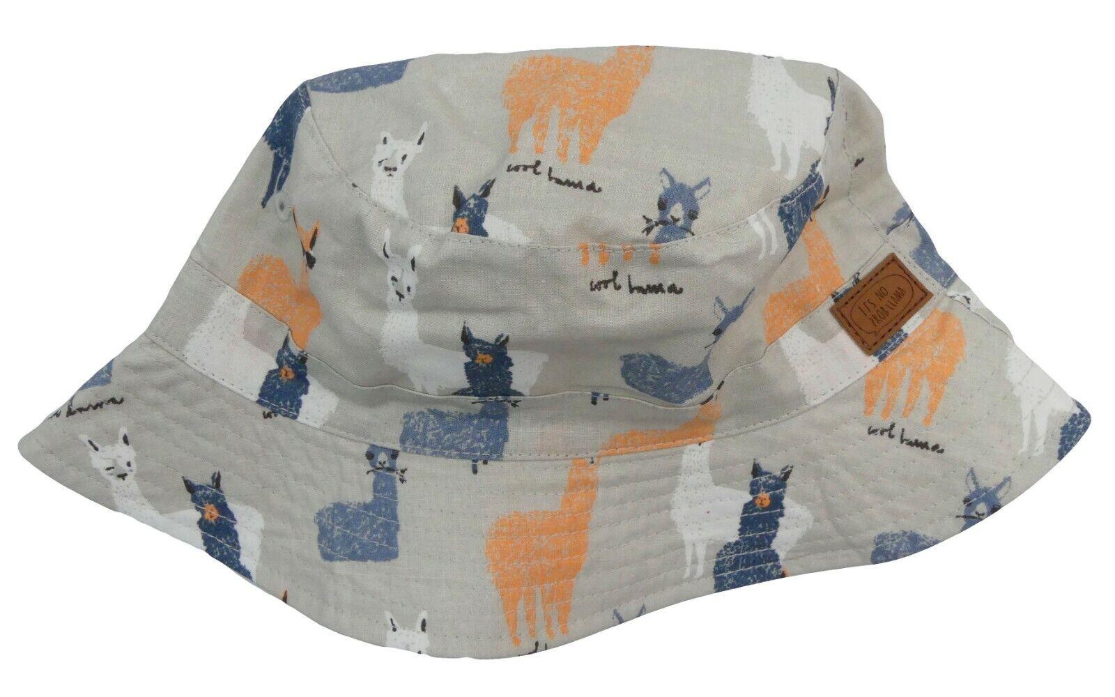 "Llama Fisherman Summer Hat Floppy Hat Three Sizes /""Its no prob-llama /"""