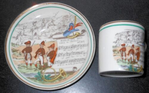 """French Opera """"Robin Des Bois"""" PV Cup and Saucer, Made in England"""