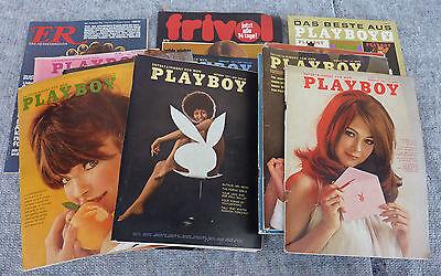 11x US Playboy USA 1966-1971 BRD 1965 +  1971 Er 1970 Frivol 1972 Akt Zeitschrift