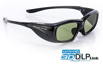 3D Brille Hi-SHOCK® DLP Pro 6G Black Space für Beamer von Benq, Optoma JmGO LG