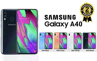 NEW SAMSUNG GALAXY A40 SM A405F DUAL SIM FREE 64GB 4G LTE UNLOCKED PHONE SEALED