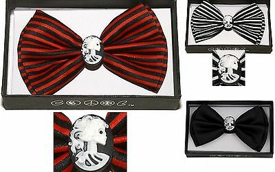 NEW RETRO PUNK GOTH DEAD GIRL LOLITA HALLOWEEN PARTY BOW TIE RED BLACK - Black Tie Halloween Party