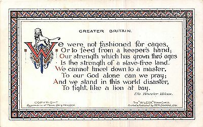POSTCARD  POLITICS    Slavery   Greater  Britain