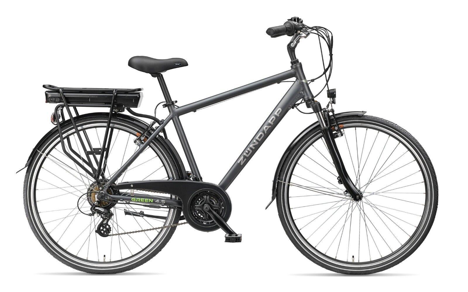 Zündapp E-Bike 28 Zoll Herren Elektrofahrrad 21-Gang Trekking Pedelec Green 4.5