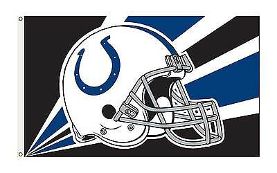 INDIANAPOLIS COLTS Flag 3' x 5' OFFICIAL NFL Premium Grommets Banner 1 SIDE