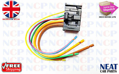 PEUGEOT EXPERT SCUDO DISPATCH 07>HEATER BLOWER MOTOR RESISTOR WIRING LOOM PLUG