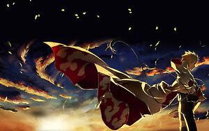 Naruto japan Anime Silk Cloth Poster 43 x 24