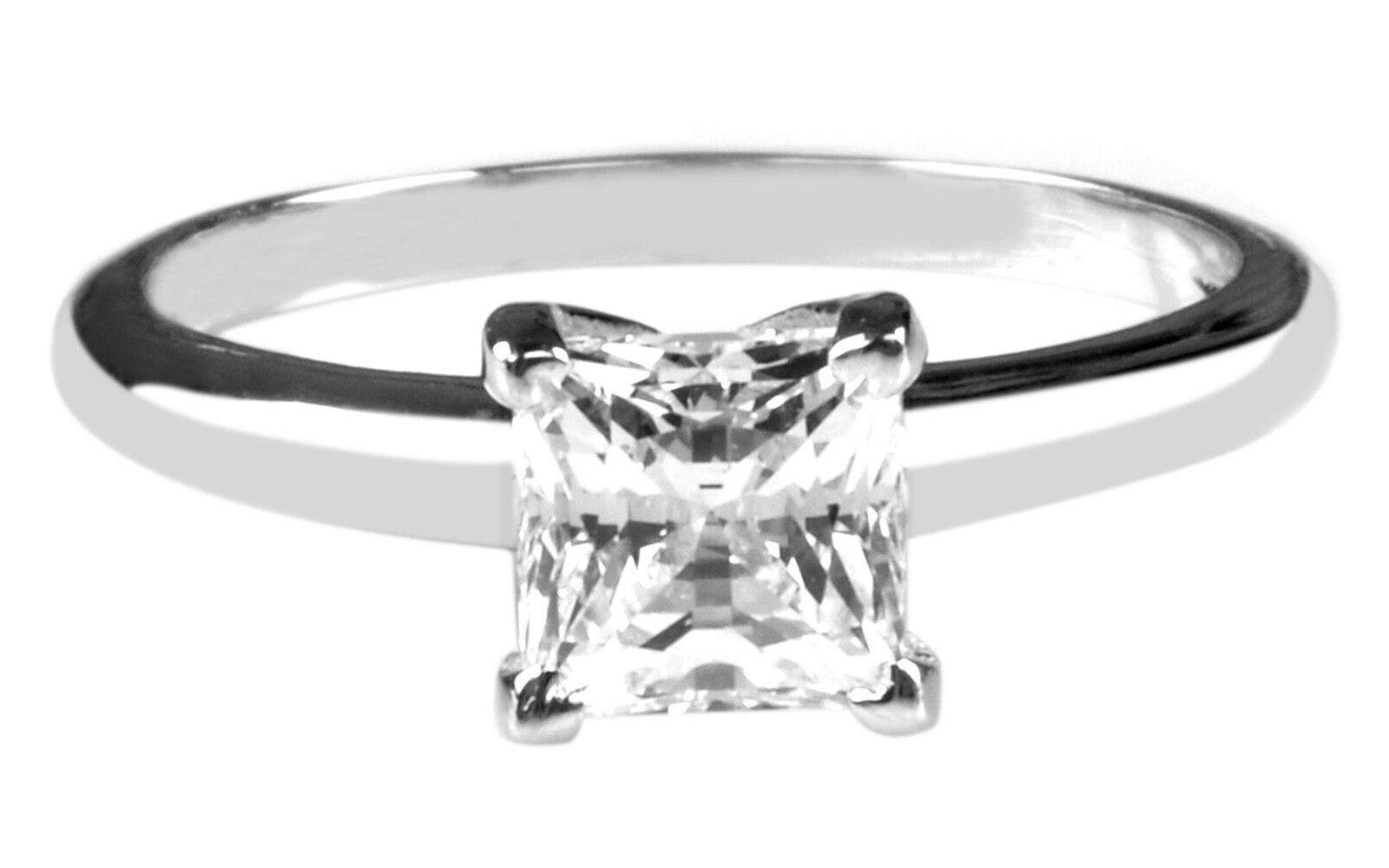 1.85 Carat Princess Shape Solitaire Women's Wedding Ring - 925 Sterling Silver