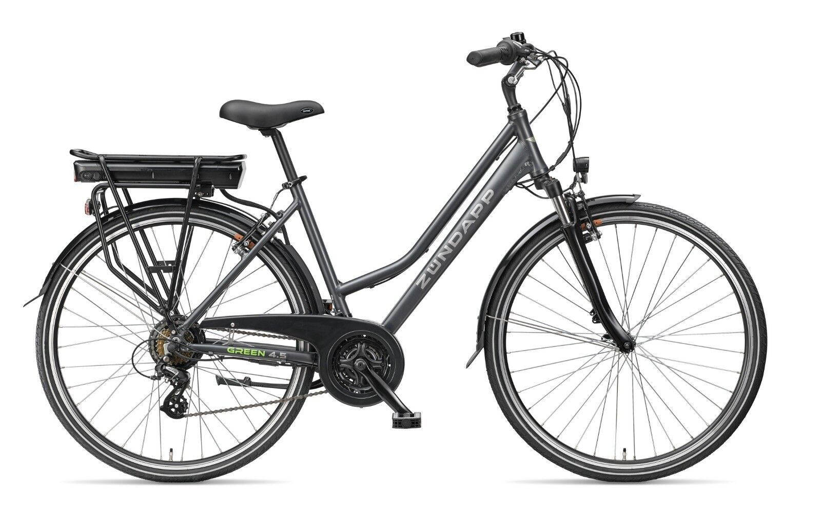 Zündapp E-Bike 28 Zoll Damen Elektrofahrrad 21-Gang Trekking Pedelec - Green 4.5