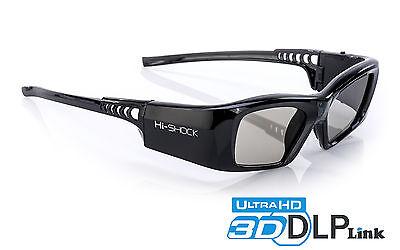 3D-Brille DLP Pro 7G Black Diamond | DLP-Link für Beamer Acer, Benq, Optoma, Nec