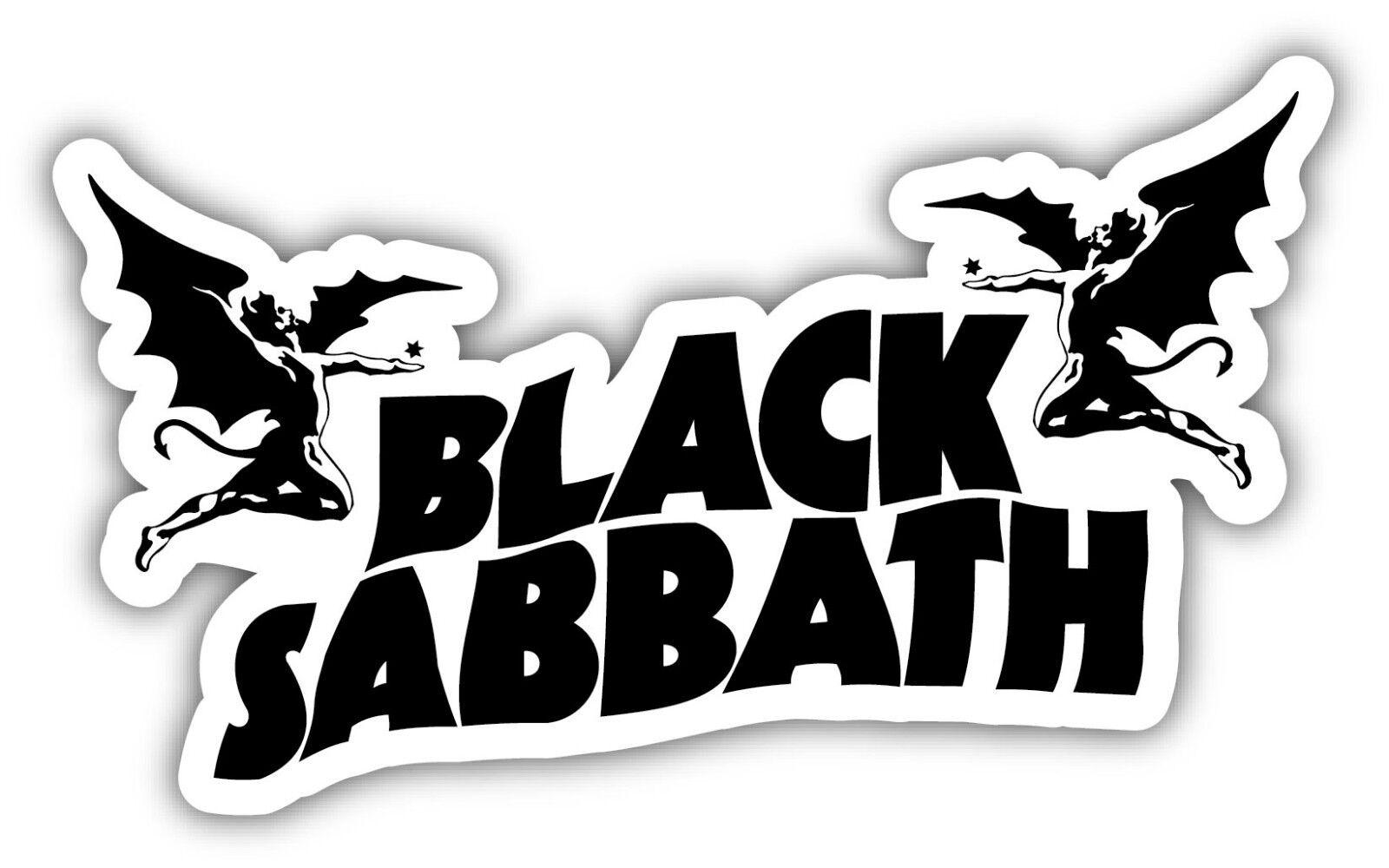 Home Decoration - BLACK SABBATH Sticker Decal *3 SIZES*  Heavy Metal Vinyl Bumper Wall Angel Ozzy
