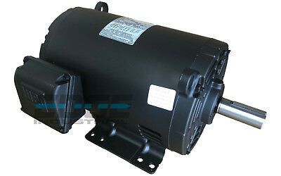 NEW 5 HP 184T  3 PHASE  WEG ELECTRIC MOTOR AIR COMPRESSOR 1760 RPM 208-230/460