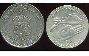 TUNISIE-1-2-dinar-1997