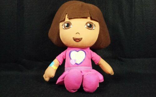 "DORA The Explorer Plush Talking Doll Interactive Huggable Toy 9"" Pink"