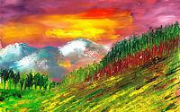 Poster A3 Pintura Paisaje Natural Nature Landscape Painting 04 - natura - ebay.es