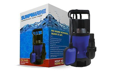 Submersible Water Pump | 1/2 HP 2000GPH Clean Clear Dirty Pool Pond Flood Drain