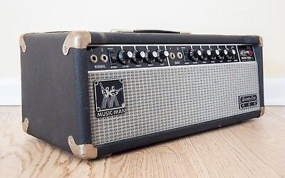 Music Man Guitar Amps - 1980 Music Man Seventy Five Vintage Tube Guitar Amplifier Head EL34