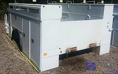 Utility Body Bed Box For Bucket Crane Service Truck. 82 Cab Axle - 172 Overall