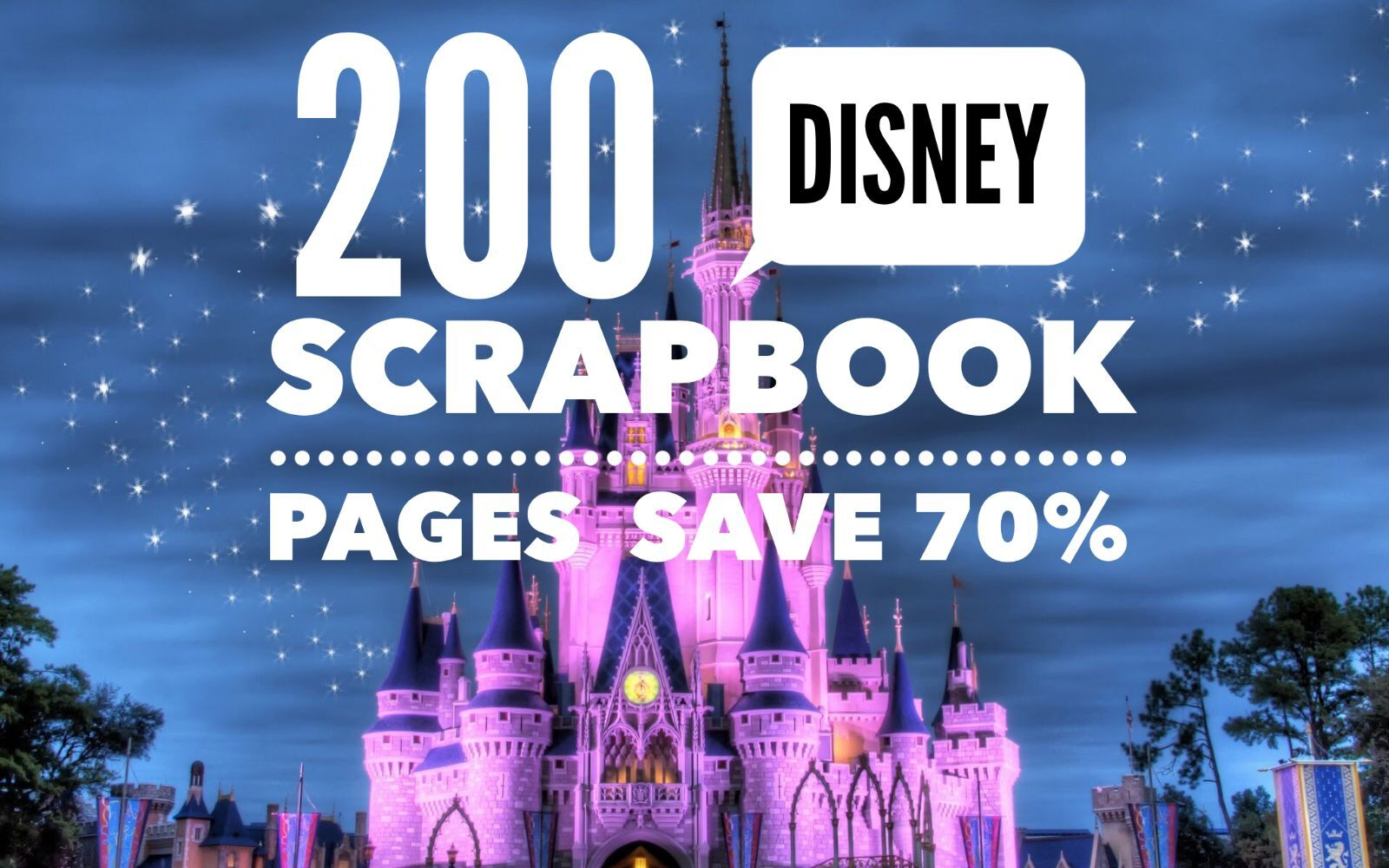200 Disney Scrapbook Pages - Digital 12x12 - Re-sizable F...
