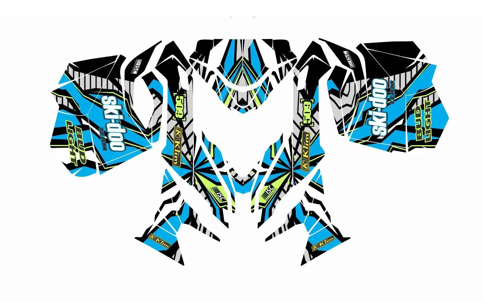 SKI DOO BRP REV  XM rs SUMMIT GRAPHICS DECAL WRAP 163 154 146 137 121 blue 13 18