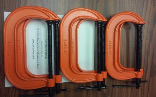 """6"""" C-Clamps 6pcs set,heavy duty,made for famous brands $29.00/set-new"""