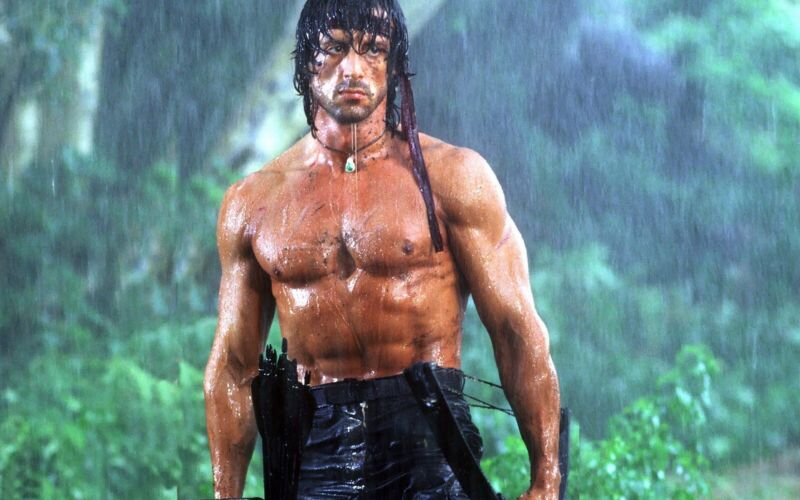 Sylvester Stallone as Rambo 8x10 Picture Celebrity Print