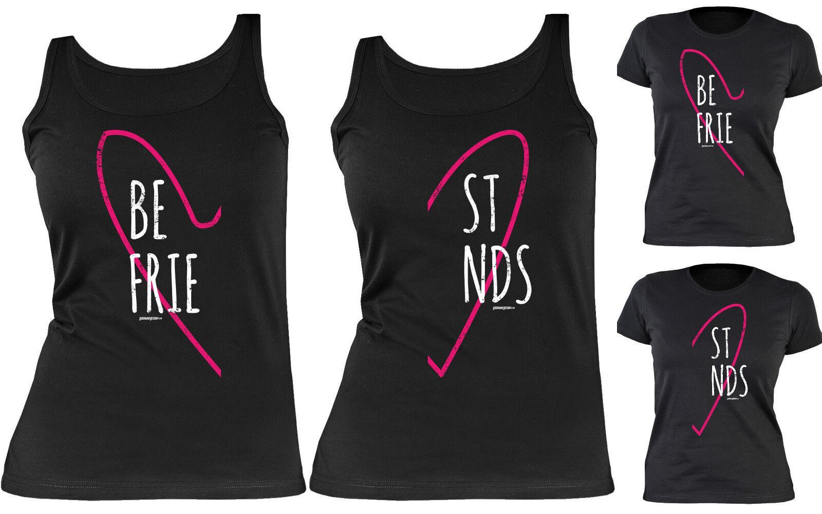Damen Freundschaftsshirt T-Shirt Freundschaft Best Friend Shirt Mädchen Freunde