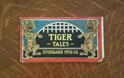 Vintage 1900s Stoddard Dayton Tiger Tales Farm Implements Brochure Comic