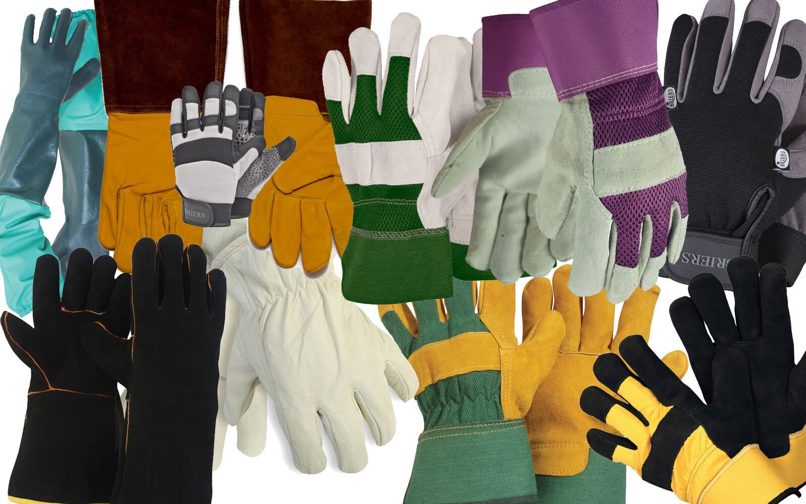 Briers Mens Professional Thermal Silicone Garden Gardening Work Gloves Large