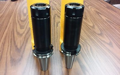 Cat40-er32 Collet Chucks 6 X-long Gage Length 2 Chucks 0.0001 Run-tool Holder