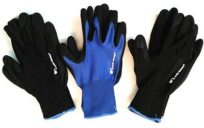 Wells Lamont Foam Latex Work Gloves 3 Pairs Large