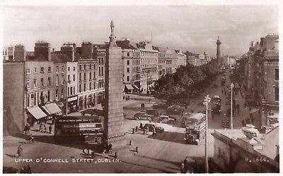 UPPER O'CONNELL ST DUBLIN IRELAND RP POSTCARD by VALENTINES No. R.1664