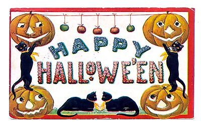 Happy Halloween 2~counted cross stitch pattern #1663~Holiday Pumpkin Graph Chart