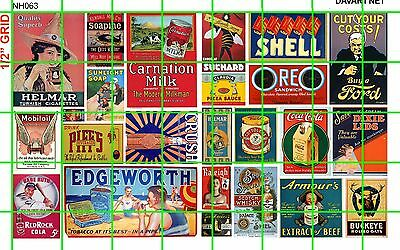 NH063 DAVE'S DECALS 1/2 Set N SCALE MIXED STEAM ERA DRY GAS/OIL SODA TOBACCO