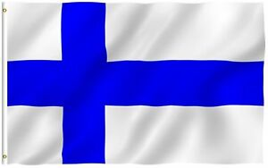 3x5 Finland Flag Finnish Banner Pennant New Indoor Outdoor 3 by 5 Foot
