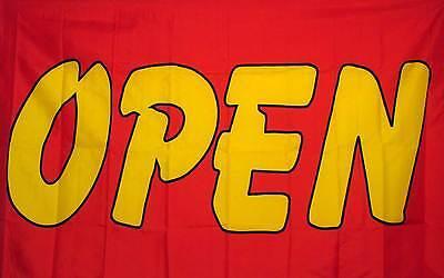 Open Red And Yellow Flag 3 X 5 Deluxe Indoor Outdoor Business Banner