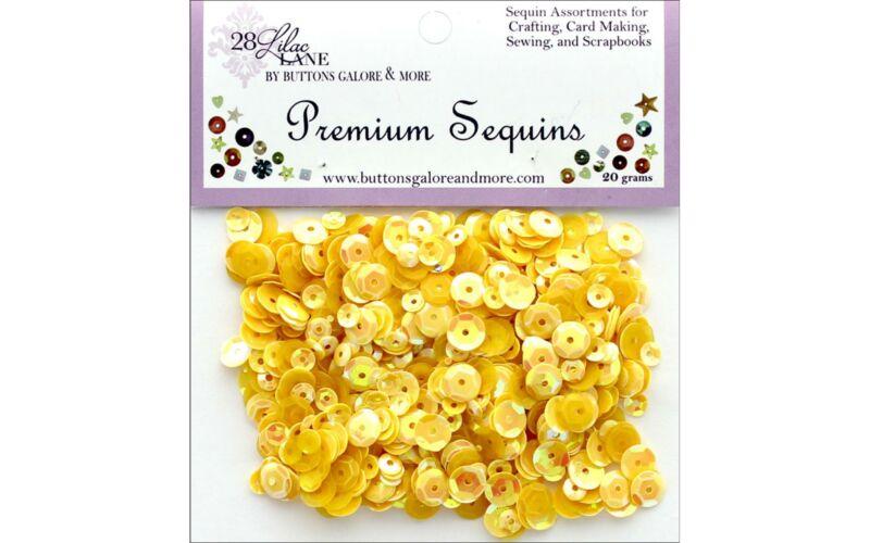 Buttons Galore LL Premium Sequins Sunshine