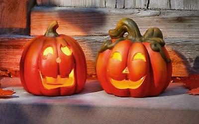 Windlicht Kürbiskopf 2er Set, Herbstdekoration, Halloween, Kürbis, Pumpkin