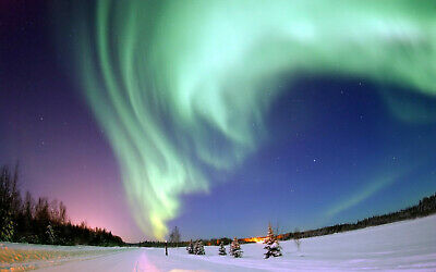 AURORA BOREALIS BIG BEAR LAKE 8X10 GLOSSY PHOTO - Aurora Borealis Photo