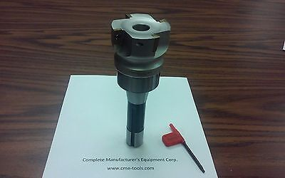 2-12 90 Degree Indexable Face Shell Millface Milling Cutter Apktw. R8 Arbor