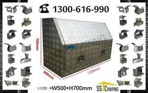 FULL SIDE OPENING HEAVY DUTY ALUMINIUM TOOL BOX 120 50 70