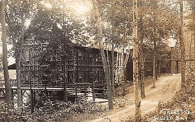 Real Photo Postcard Forest Inn At Silver Bay In Lake George  New York 109894